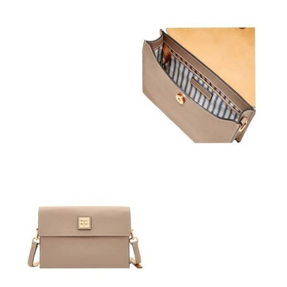 Picture of Beacon East West Flap Crossbody - Light Taupe