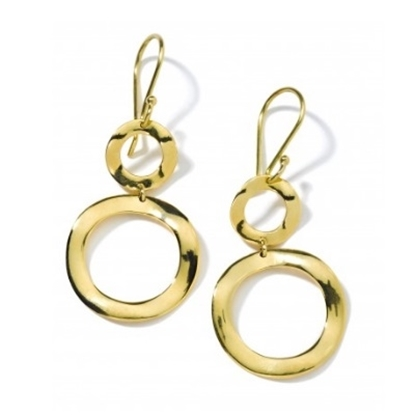 Picture of Ippolita 18K Gold Mini Snowman Earrings