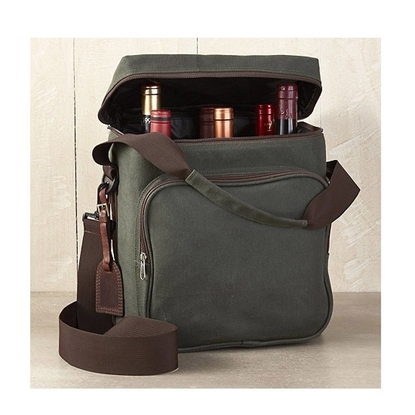 Picture of Wine Enthusiast® Six-Bottle Canvas Weekend Wine Bag