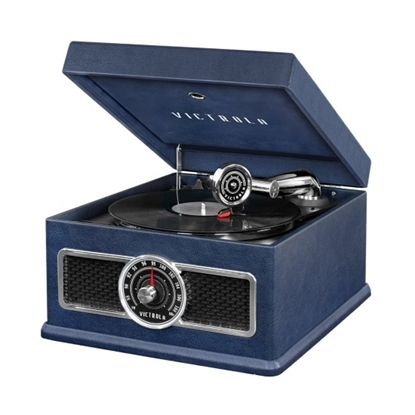 Picture of Victrola Madison Bluetooth 5-in-1 Vinyl Music Center - Blue