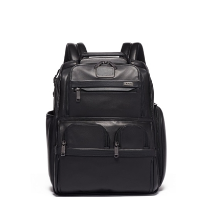 Picture of Tumi Alpha 3 Leather Compact Laptop Brief Pack - Black