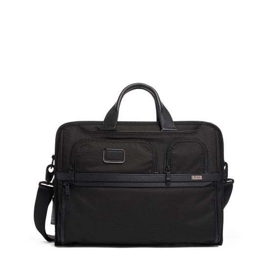 Picture of Tumi Alpha 3 Compact Large Screen Laptop Brief - Black