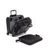 Picture of Tumi Alpha 3 Deluxe 4-Wheeled Leather Laptop Case Brief- Black