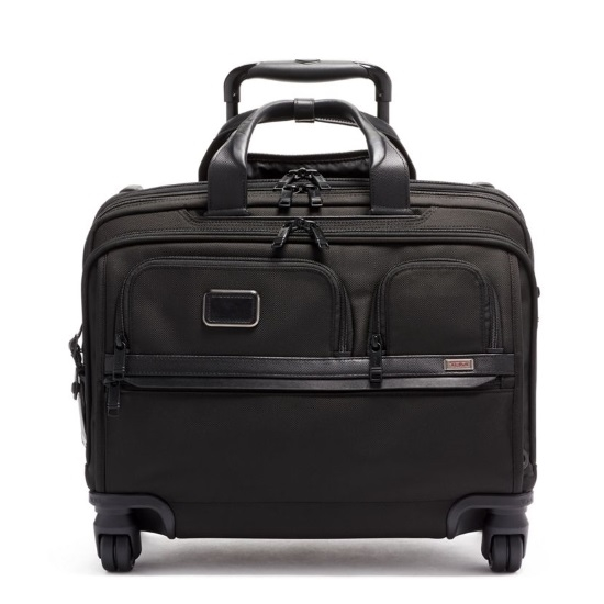 Picture of Tumi Alpha 3 Deluxe Four-Wheeled Laptop Case Brief - Black
