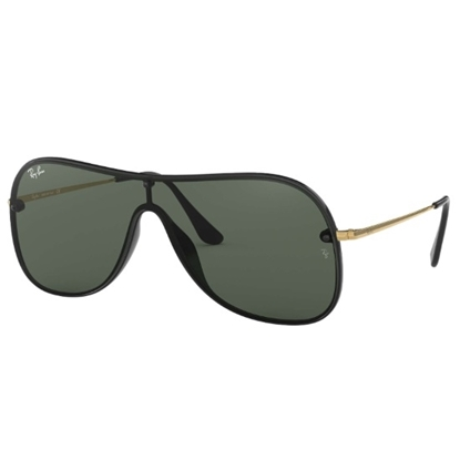 Picture of Ray-Ban® Single-Piece Sunglasses - Black/Gold & Green Lens