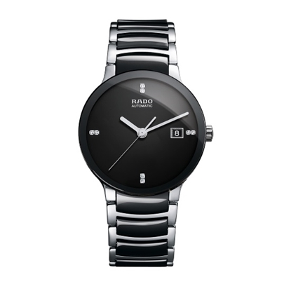 Picture of Rado Centrix S Auto Jubile Stainless Steel/Black Ceramic Watch
