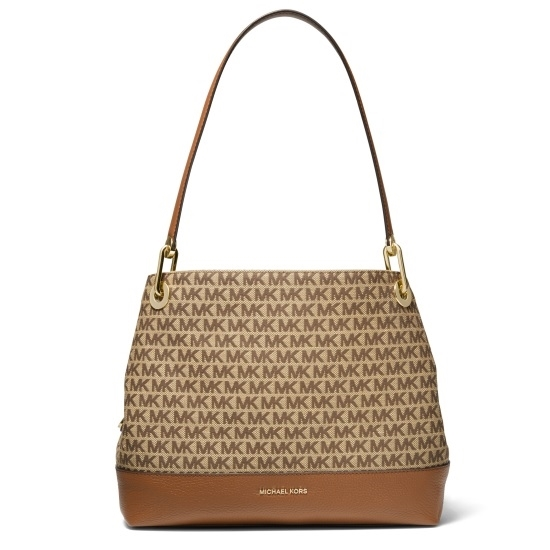 Picture of Michael Kors Raven Large Shoulder Tote - Beige/Ebony