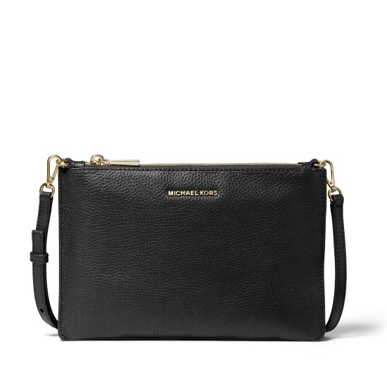Picture of Michael Kors Large Double Pouch Crossbody - Black