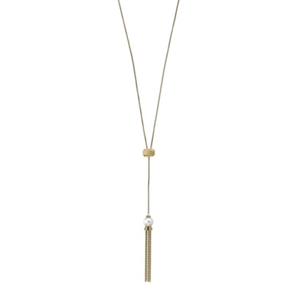 Picture of Majorica 9mm White Pearl Adjustable Gold-Tone Necklace