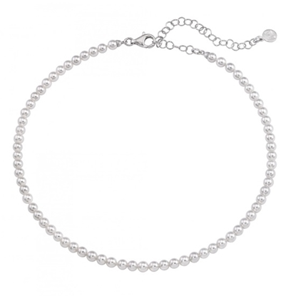 Picture of Majorica 4mm White Pearl Strand Sterling Silver Necklace
