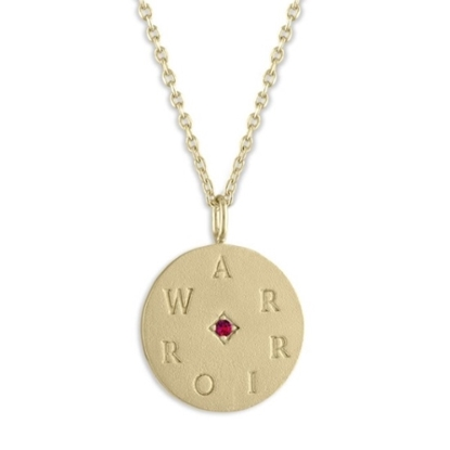 Picture of Lulu DK 14K Gold-Plated Warrior Medallion Necklace