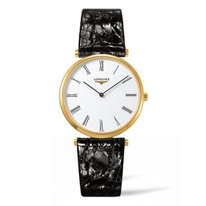 Picture of Longines La Grande Classique Black Alligator Strap Watch