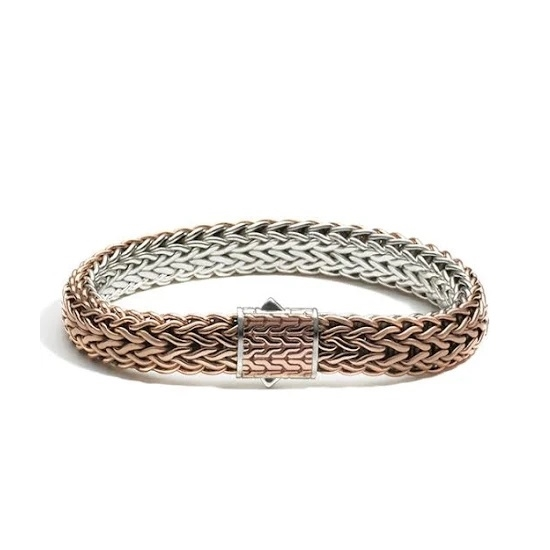 Picture of John Hardy Classic Chain Bronze/Silver Lg Reversible Bracelet