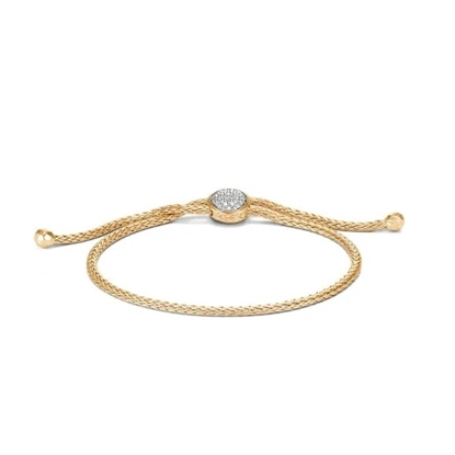 Picture of John Hardy Classic Chain Gold & Diamond Pull-Through Bracelet