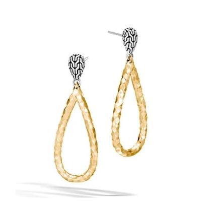Picture of John Hardy Classic Chain Gold & Silver Teardrop Earrings