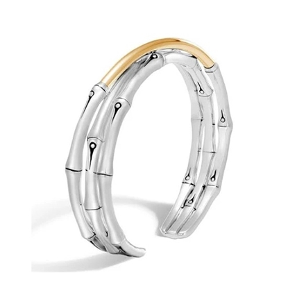Picture of John Hardy Women's Bamboo 18K Gold & Silver Cuff
