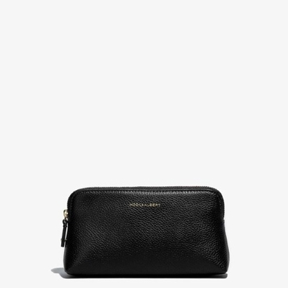 Picture of Hook & Albert Women's Leather Cosmetic Traveler - Black