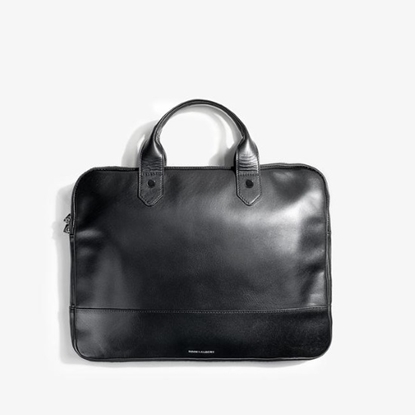 Picture of Hook & Albert Leather Slim Briefcase - Black