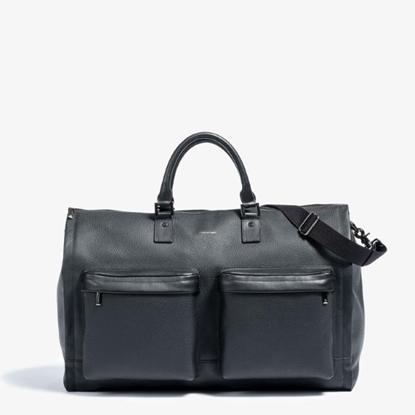 Picture of Hook & Albert Leather Garment Weekender - Black