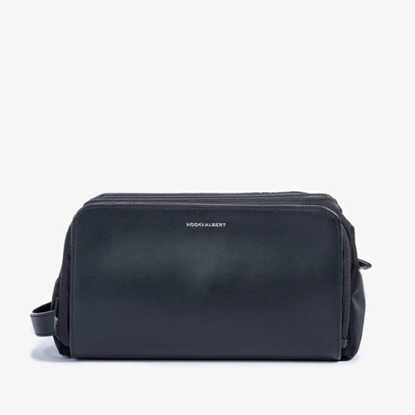 Picture of Hook & Albert Leather Dopp Kit - Black