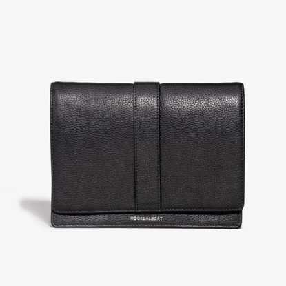 Picture of Hook & Albert Cord Wallet - Black Leather