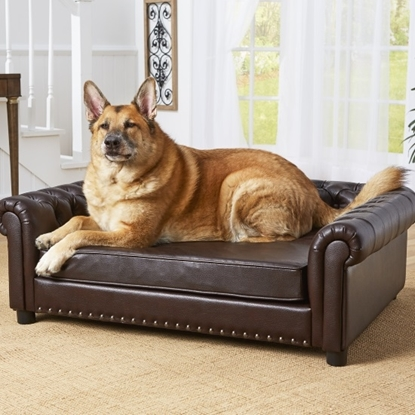 Picture of Enchanted Home Pet Harrison Pet Sofa - Pebble Brown