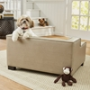 Picture of Enchanted Home Pet Lincoln Sofa w/ Bolster Pillow- Biege/Brown