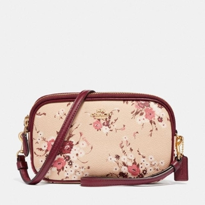 Picture of Coach Sadie Crossbody Clutch - Beechwood Floral/Gold