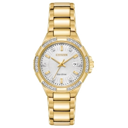 Picture of Citizen Ladies' Riva Gold-Tone Watch with Diamonds