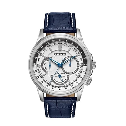 Picture of Citizen Calendrier Watch with Blue Leather Strap