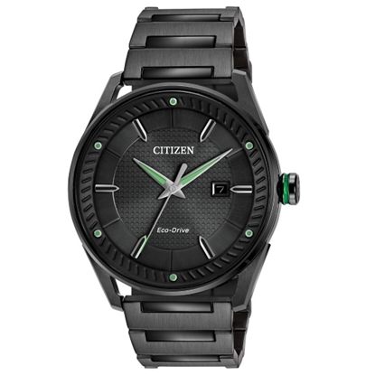 Picture of Citizen Men's CTO Black-Tone Watch with Black Dial