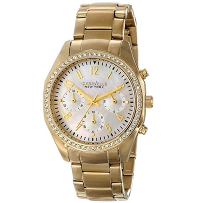 Picture of Bulova Caravelle NY Ladies' Gold-Tone Watch with Crystals