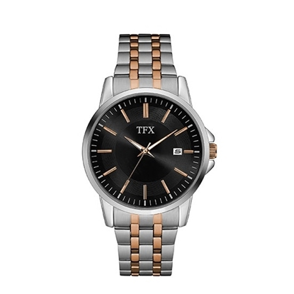 Picture of Bulova TFX Two-Tone Stainless Steel Watch with Black Dial