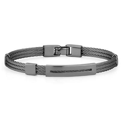 Picture of ALOR Men's Black Steel Cable Bracelet