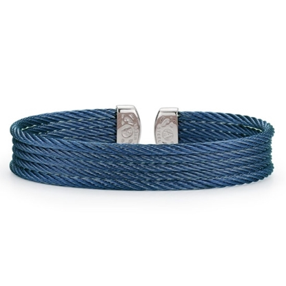 Picture of ALOR Classique Blueberry Steel Cable Bangle