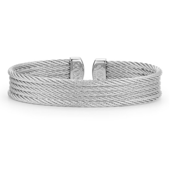 Picture of ALOR Classique Grey Steel Cable Bangle