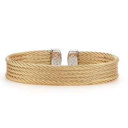 Picture of ALOR Classique Yellow Steel Cable Bangle