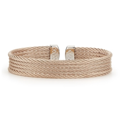 Picture of ALOR Classique Carnation Steel Cable Bangle