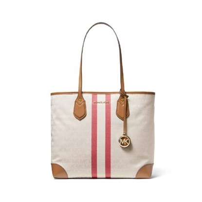 Picture of Michael Kors Eva Large Striped Tote