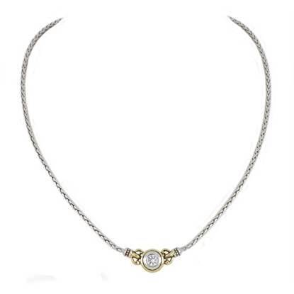 Picture of John Medeiros Beijos Single Stone Necklace - Clear