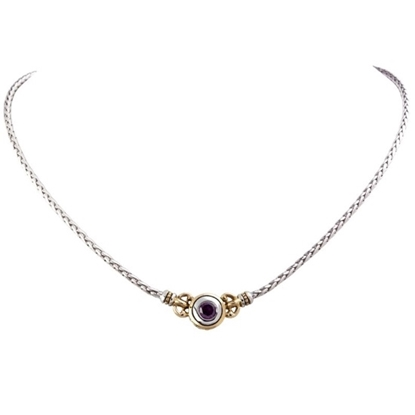 Picture of John Medeiros Beijos Single Stone Necklace - Amethyst