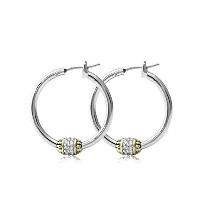 Picture of John Medeiros Beaded Pavé Hoop Earrings