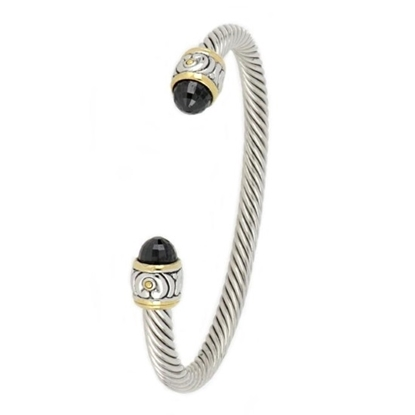 Picture of John Medeiros Nouveau Small Wire Cuff Bracelet - Black