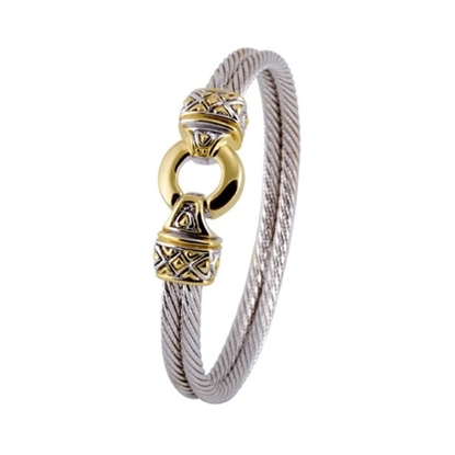 Picture of John Medeiros Antiqua Two-Tone Double Wire Bracelet