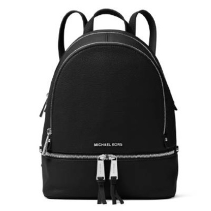Picture of Michael Kors Rhea Zip Small Backpack - Black