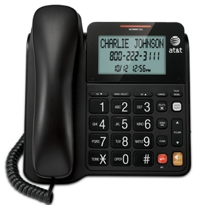 Picture of AT&T Corded Speakerphone with Tilt Display - Black