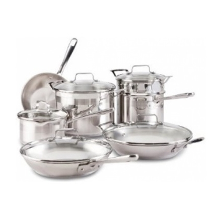 Picture of Emerilware Restaurant 12-Piece Stainless Steel Cookware Set