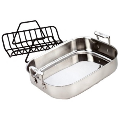 Picture of All-Clad Stainless Steel Petite Roti with Rack