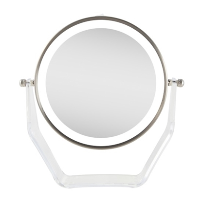Picture of Zadro™ 1X/8X LED Swivel Mirror - Satin Nickel