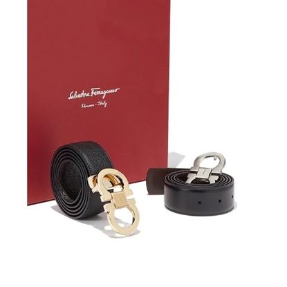 Picture of Salvatore Ferragamo Reversible/Adjustable Belt - Black & Brown